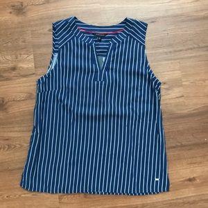 Tommy Hilfiger blue/white stripe sleeveless blouse